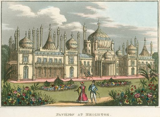 General view of the Royal Pavilion in Brighton, East Sussex.