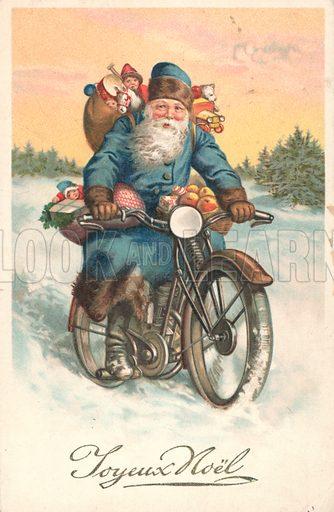 Santa on a motorbike