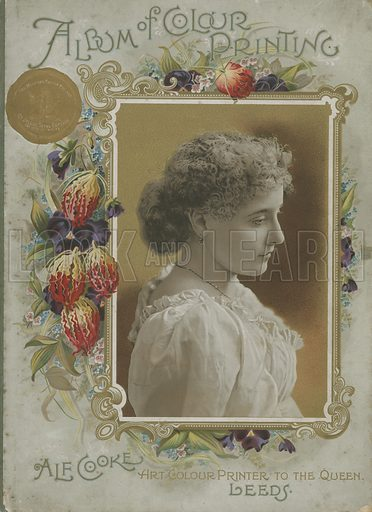 Cover of Album of Colour Printing by Alf Cooke, Art Colour Printer to the Queen, Leeds (c 1895).