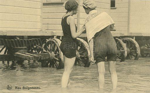 Nos Baigneuses.  Postcard.