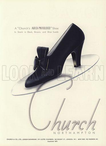 Women's shoe advertisement, 1930s.  From the Footwear Organiser.