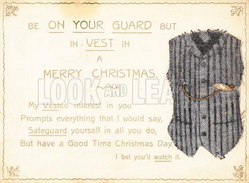Gentleman's Waistcoat, Christmas Card
