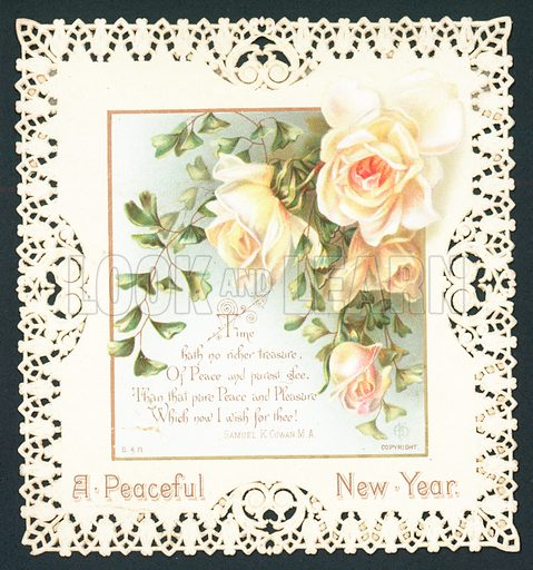 White Roses, New Year Card.