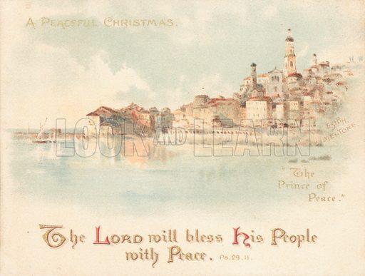 The Prince Of Peace, Christmas Card.