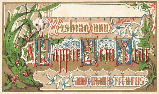 Seasonal Flowers, New Year Card
