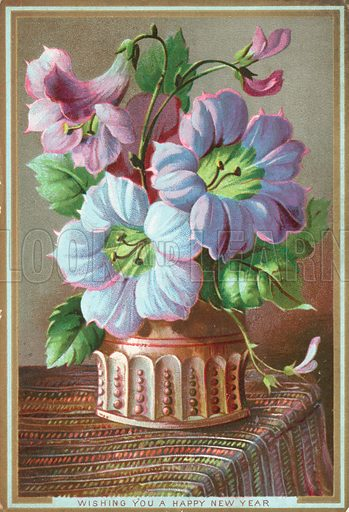 Lilies in Vase, New Year Card