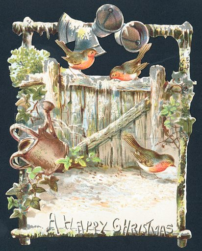 Robins and Ringing Bells, Christmas Card