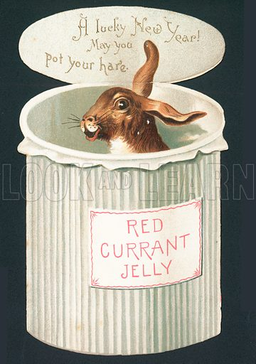 Hare in Pot, New Year Card