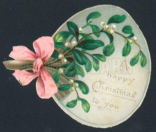 Mistletoe Fan, Christmas Card