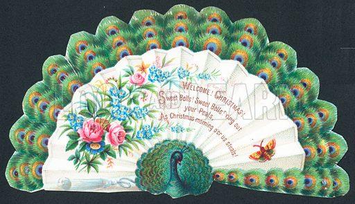 Peacock, Christmas Card