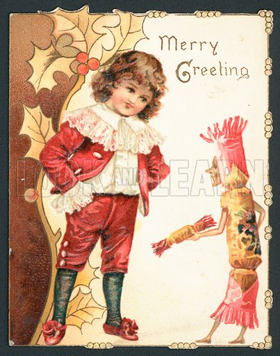Merry Greeting Christmas card