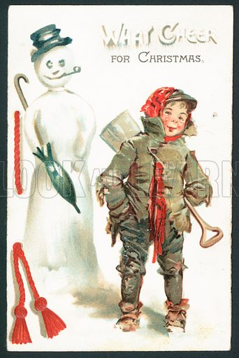 What cheer for Christmas – Victorian Christmas card