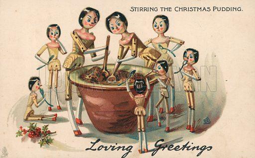 Stirring the Christmas pudding