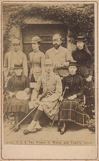 Albert Edward, Prince of Wales in a portrait with his family.