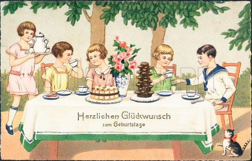 German Birthday Card Look And Learn History Picture Library