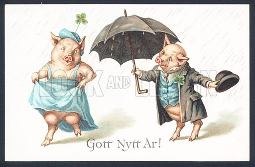 Swedish New Year greetings card