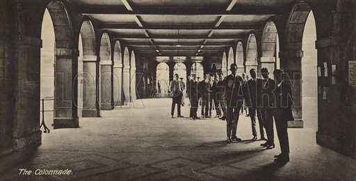 The Colonnade. One of series of cards illustrating Guy's Hospital, London.