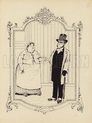 Cartoon from Memoires d'une Glace published in Paris, c 1896.