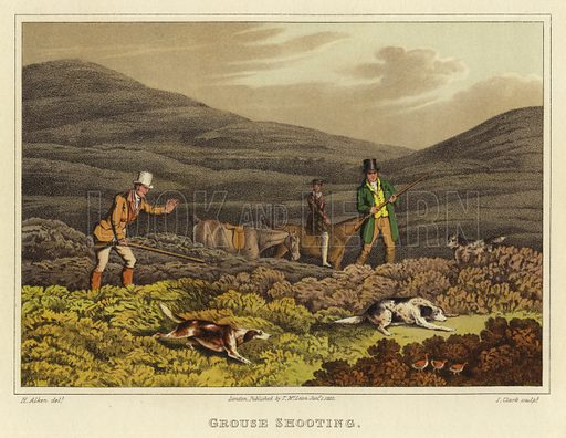 Grouse Shooting, picture, image, illustration