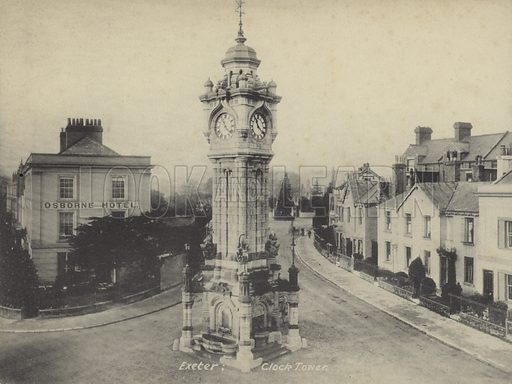Clock tower, Exeter, Devon.