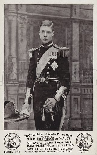 The Prince of Wales. National Relief Fund postcard.