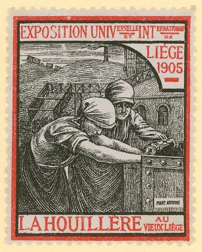 International Exposition, Liege, 1905. Cinderella stamp.