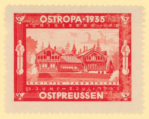 Ostropa Philatelic Exhibition, Konigsberg, East Prussia, Germany, 1935. Cinderella stamp.