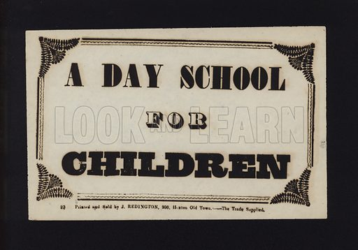 Advertisement: A day school for children