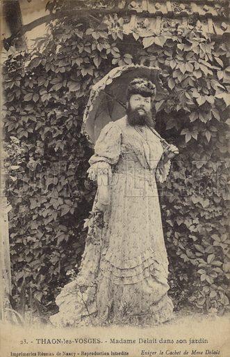 Thaon-les-Vosges, Madame Delait in her garden