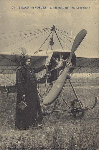 Thaon-les-Vosges, Madame Delait by an aeroplane