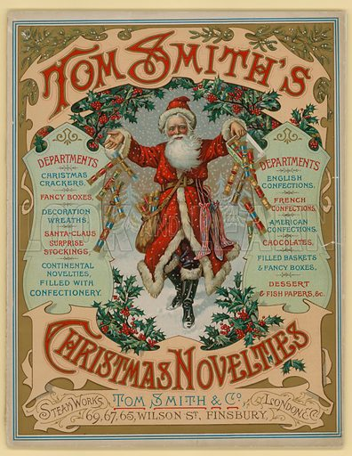 Tom Smith & Co Ltd, Christmas Novelties, Christmas Crackers, Brochure cover