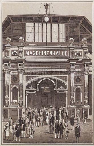 Illustration for booklet entitled Schweizerische Landesausstellung, Zurich, 1883, ie the first Swiss national exhibition.