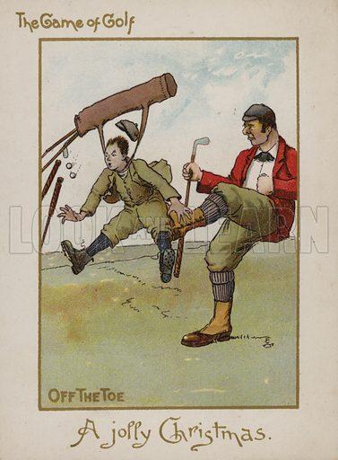Golfing Christmas card