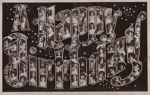 A Happy Birthday With Surreal Lettering Look And Learn History