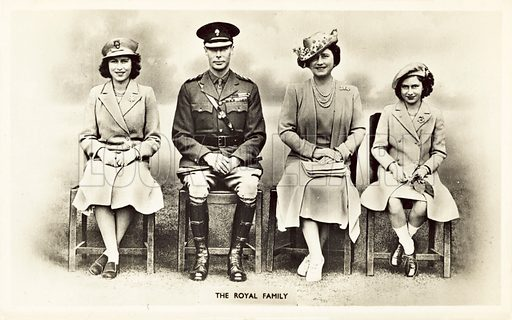 The Royal Family. Postcard, early 20th century.