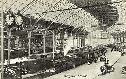 Brighton Station. Postcard, early 20th century.