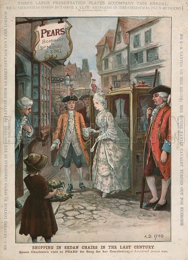 Shopping in Sedan Chairs in the Last Century