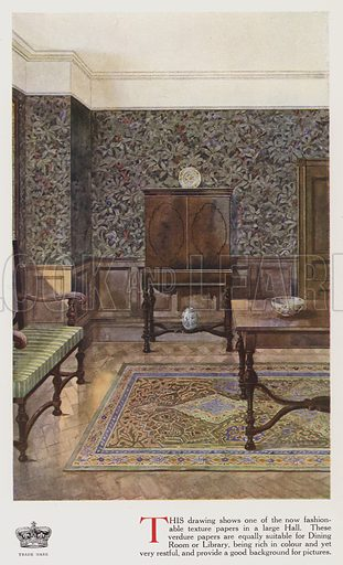 Textured Wallpaper In A Large Hall Look And Learn History