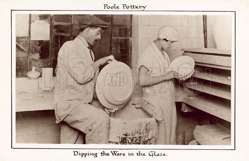 Poole Pottery.  Postcard, 20th century.