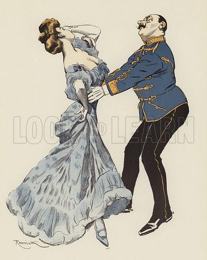 Csardas.  Illustration for Der Tanz by Ferdinand von Reznicek (Langen, 1908).