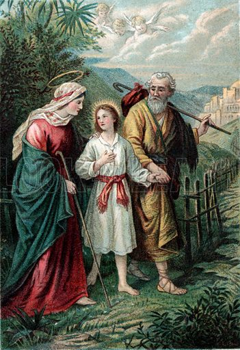 Joseph and Mary with Jesus