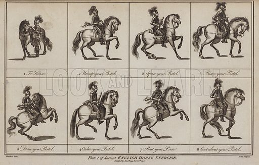 Ancient English Horse Exercise.