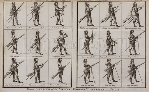 Manual Exercise of the Ancient English Musketeers.