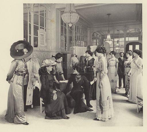 Sales salon at Redfern fashion house, Paris
