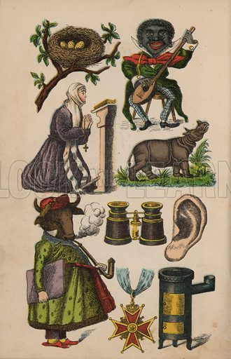 Page from the Magical Book from A Speelman and Brothers, Manufacturers of Cigars, Shipchandlers and Novelty Dealers, Rotterdam. Late 19th century.