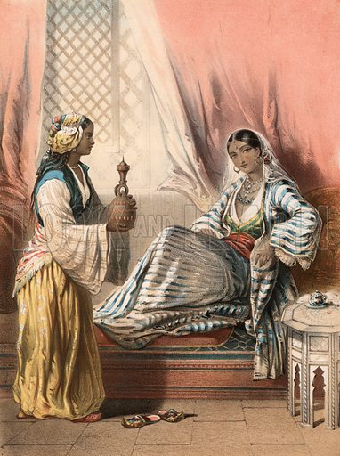 Indian scene. Detail from music cover.