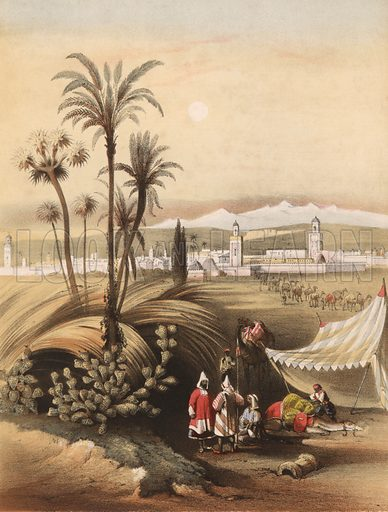 Morocco. Detail from music cover.