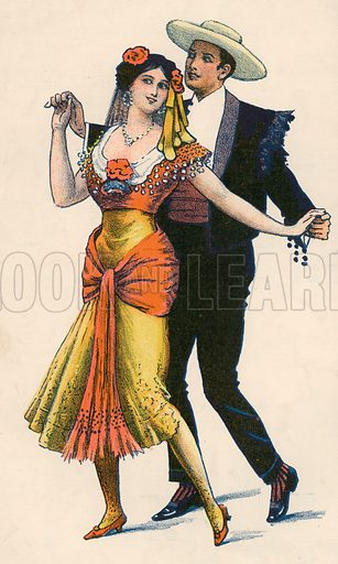 Argentine tango. Detail from music cover.