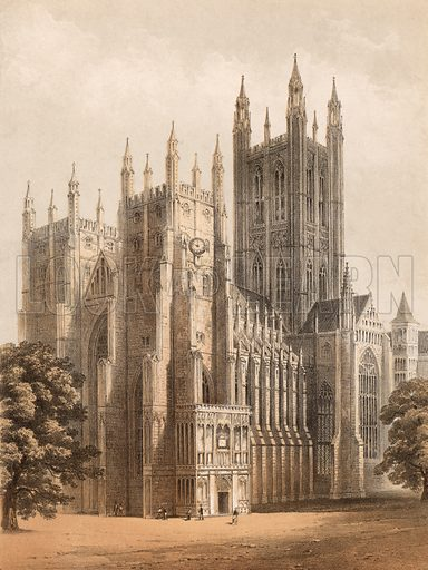 Canterbury Cathedral. Detail of music cover.