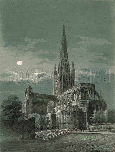 Norwich Cathedral. Detail of music cover.